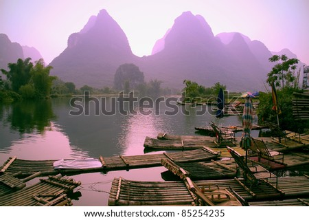 Guilin landscape - stock photo