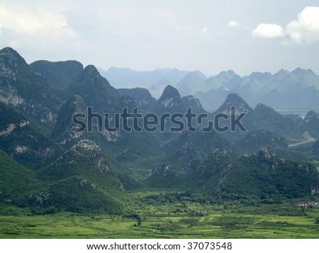 GUILIN PANORAMA, CHINA - stock photo