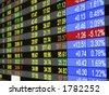 Guillemet de temps réel à la bourse des valeurs. - stock photo