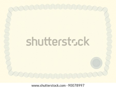 Guilloche Background for Certificate, Voucher, Diploma - Bitmap Illustration - stock photo