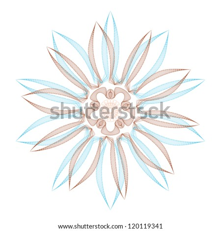 guilloche vector elements on a white background - stock photo