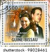 GUINEA-BISSAU - CIRCA 2011: stamp printed by Guinea-Bissau, shows Prince William of Wales and Kate Middleton, circa 2011 - stock photo