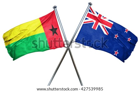 Guinea bissau flag  combined with new zealand flag