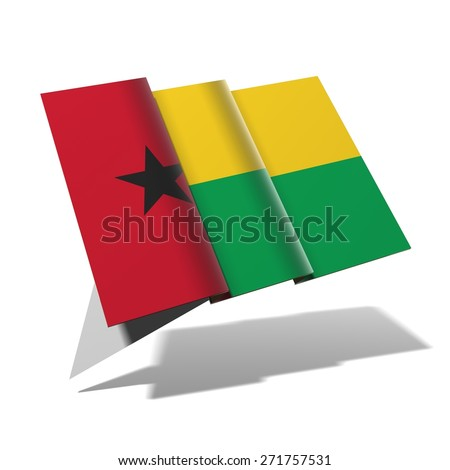 Guinea-Bissau flag 3D banner - stock photo