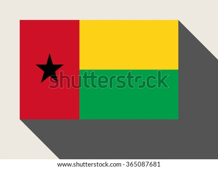 Guinea-Bissau flag in flat web design style. - stock photo