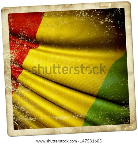 Guinea grunge sticker - stock photo