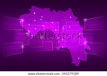 Guinea Map World map News Communication delivery purple