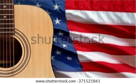 Guitar. - stock photo