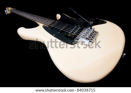 Guitar against the background - stock photo