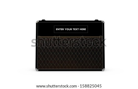 guitar amp isolated on white background
