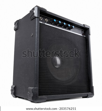 Guitar amplifier. Contains clipping path - stock photo