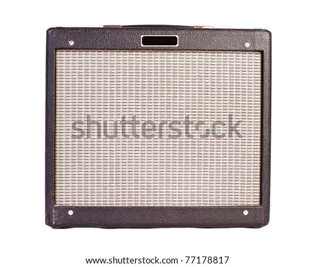 guitar amplifier (isolated on white)