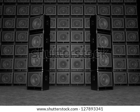 Guitar amps background - stock photo