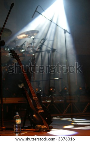 Guitar and drums - stock photo