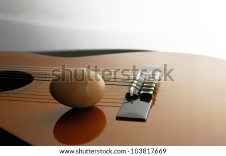 Guitar and percussion - stock photo