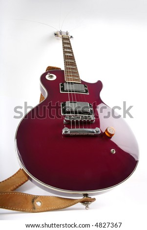 guitar and strings - stock photo
