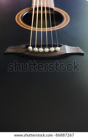 Guitar,black guitar - stock photo