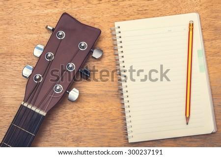 Guitar books - stock photo