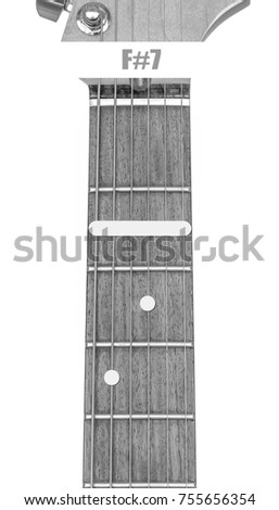 Guitar Chord F7 Black White Isolate Stock Photo (Royalty Free ...