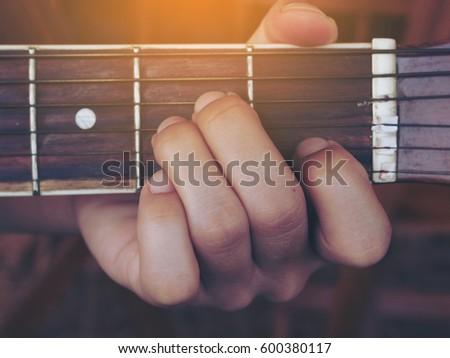Guitar Chords Minor Stock Photo Royalty Free 600380117 Shutterstock