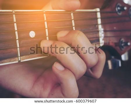 Guitar Chords D Minor Stock Photo Royalty Free Royalty Free