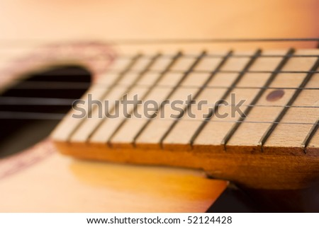 Guitar close up background