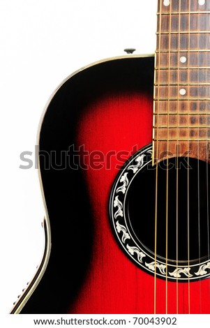 Guitar close-up - musical background - stock photo