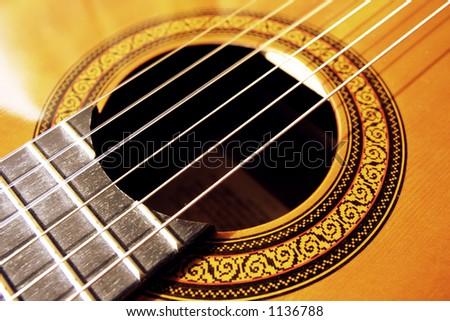 Guitar detail - stock photo