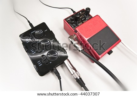 Guitar Effects - stock photo