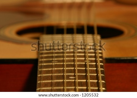 Guitar Frets - stock photo
