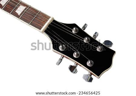 Guitar head. - stock photo