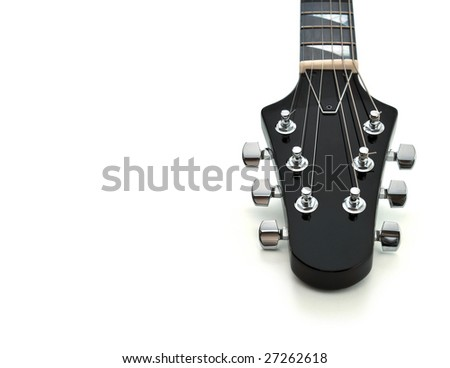 Guitar Headstock - stock photo