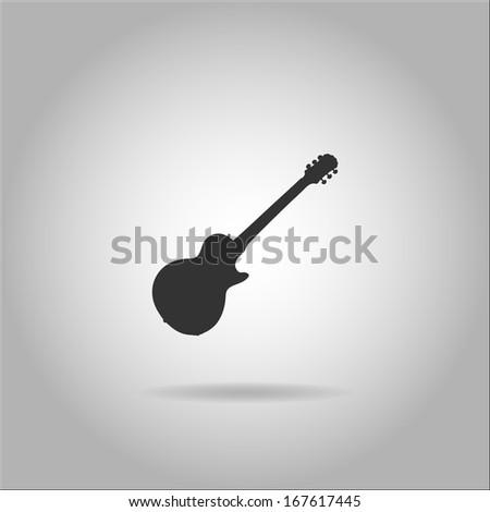 Guitar illustration - stock photo