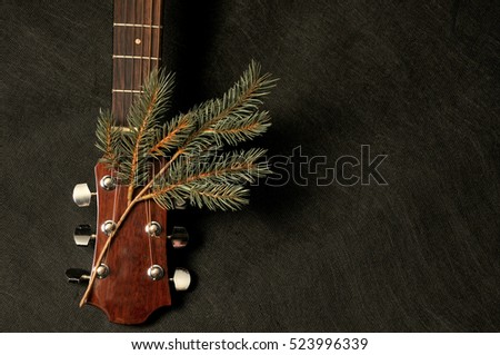Guitar in the Christmas mood