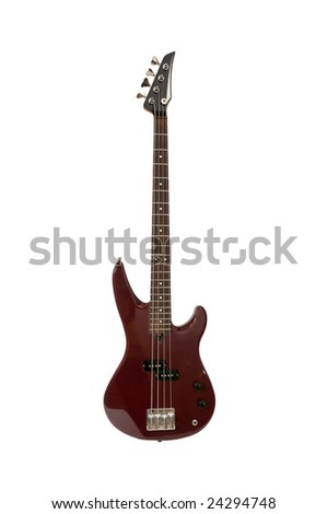 guitar isolated on a white background