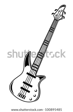 Guitar isolated on white background. Vector version also available in gallery