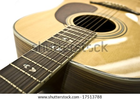 guitar isolated  white on background