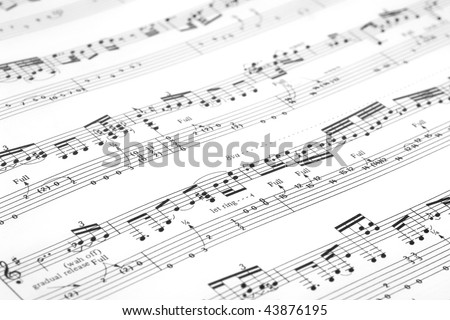 Guitar music sheet