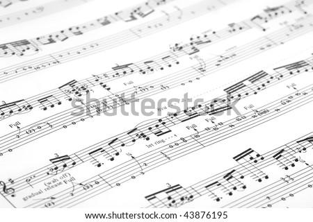 Guitar music sheet - stock photo