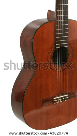 guitar on white background