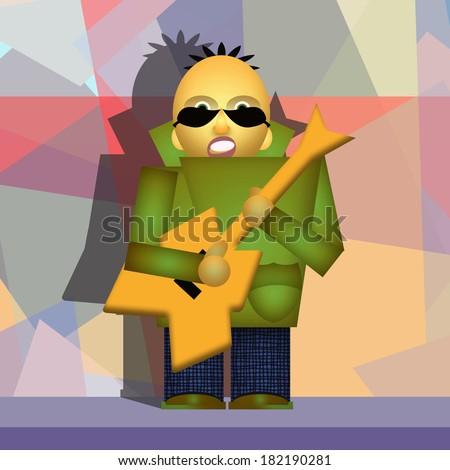 Guitar player - stock photo