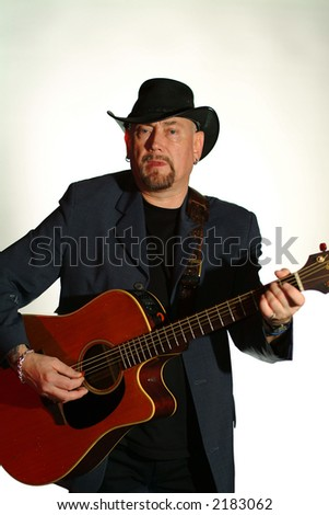 guitar player,cowboy style