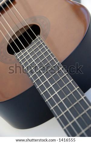 guitar, shallow DoF - stock photo