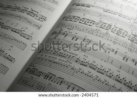 Guitar Sheet Music - stock photo