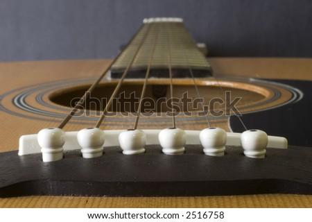 Guitar strings - stock photo