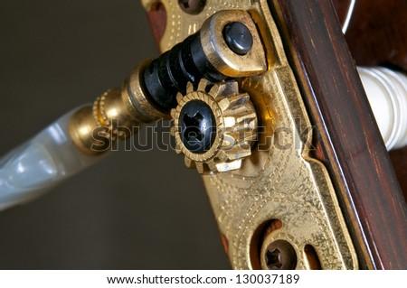 Guitar tuning machine - stock photo