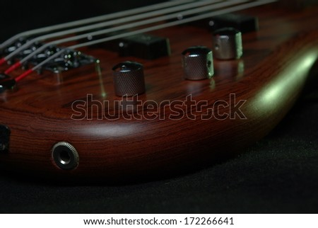 Guitar with brown body