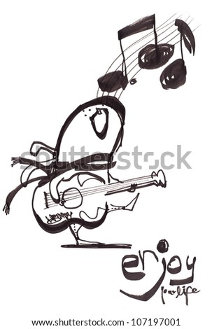 Guitarist playing - stock photo