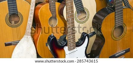 Guitars - stock photo