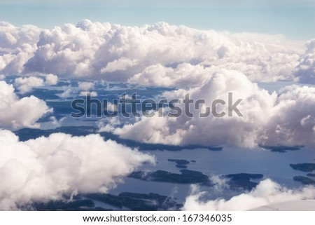 Gulf of Finland - air-view - stock photo